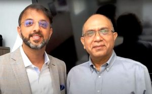 Faruque Ahmed, MD, with Dr. Nitin Mariwalla